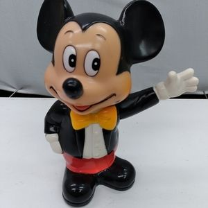 Vintage mickey mouse coin bank 1990's